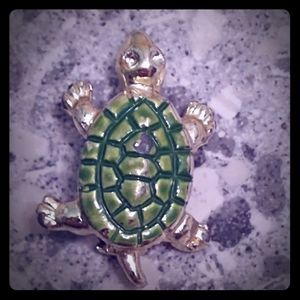 2 for $20 VTG Gold and Green Enamel Turtle Pin